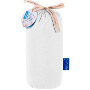 Sábana bajera impermeable de algodón orgánico. 2 en 1, Impermeable y transpirable. Marca VELFONT, colección RESPIRA Disponible en 5 colores diferentes (blanco, arena, pistacho, rosa y azul).