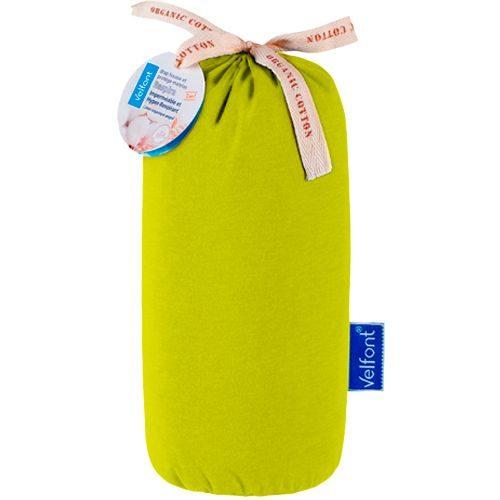 Sábana bajera de algodón orgánico. 2 en 1, Impermeable y transpirable. Marca VELFONT, colección RESPIRA Disponible en 5 colores diferentes (blanco, arena, pistacho, rosa y azul).