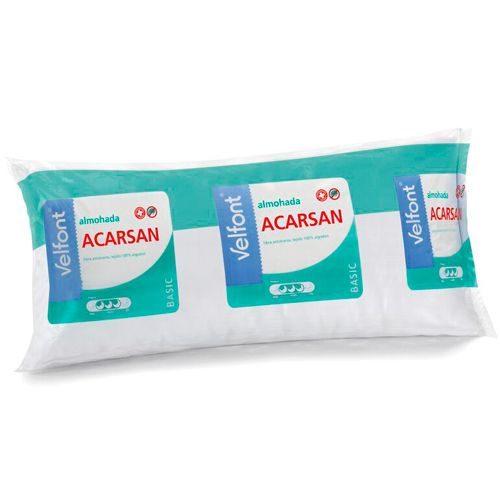Almohadas baratas - Almohada VELFONT con fibra antiácaros ARCASAN. Tejido 100% algodón.