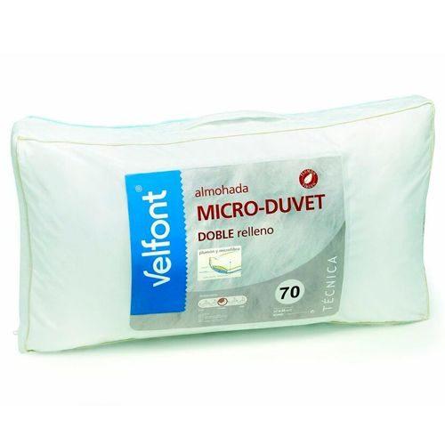 Almohadas baratas - Almohada plumón + microfibra MICRO-DUVET de Velfont